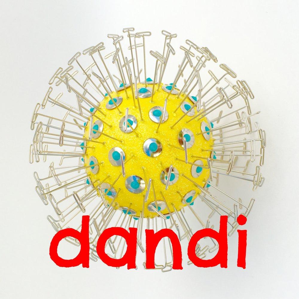 Copy of dandi garden art flower in yellow halfpeeledbanana.com