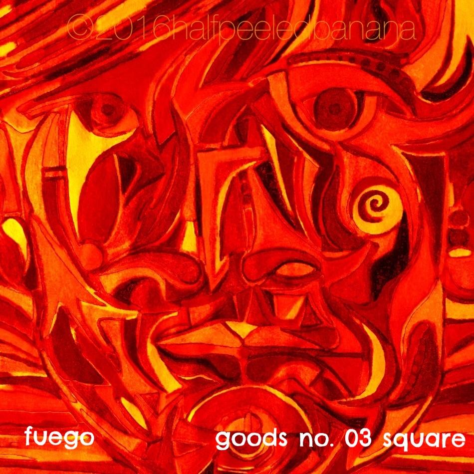 fuego - goods no. 03 square - art-print - halfpeeledbanana.com