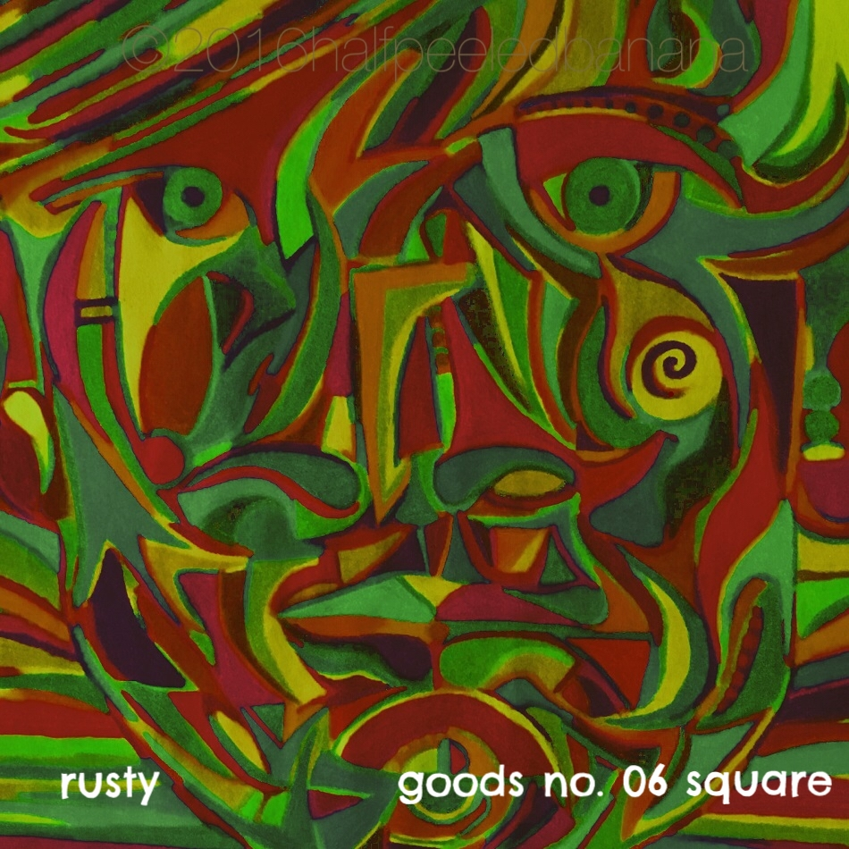 rusty - goods no. 06 square - art print - halfpeeledbanana.com