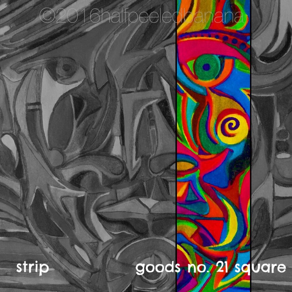 strip - goods no. 21 square - art print - halfpeeledbanana.com