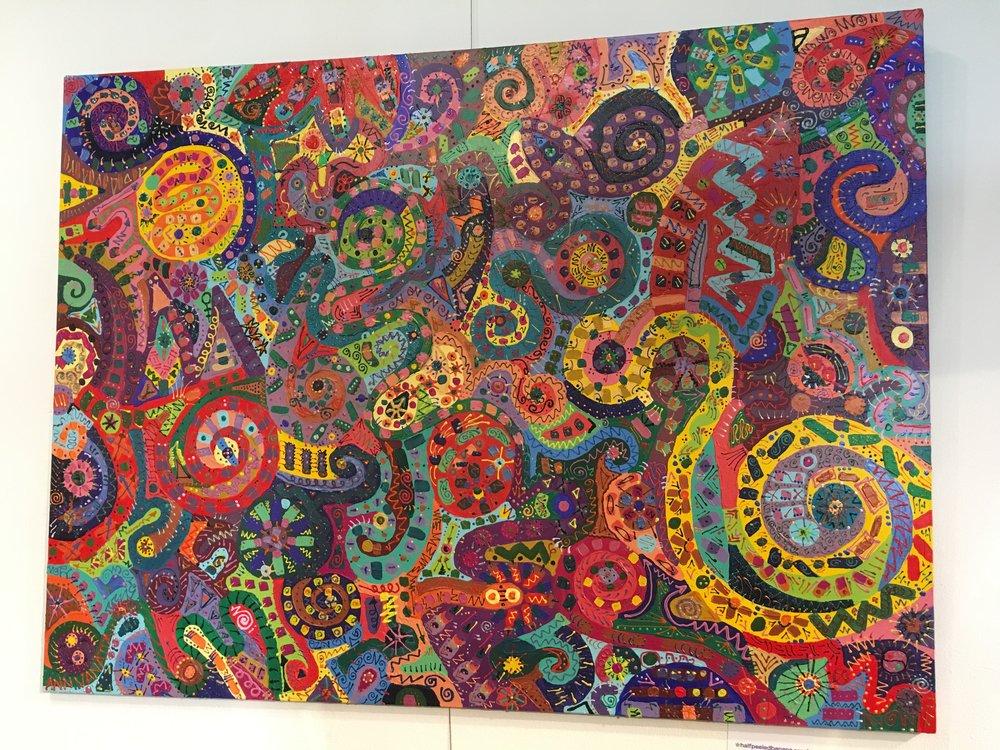 """peace"" by Ann Vanatta Gutierrez 36x48 multimedia on canvas"