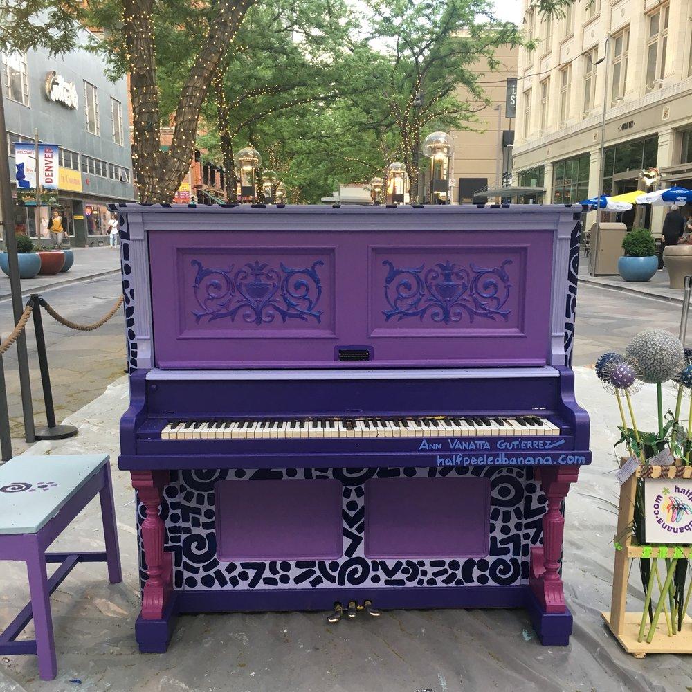 16th Street Mall Piano by Ann Vanatta Gutierrez