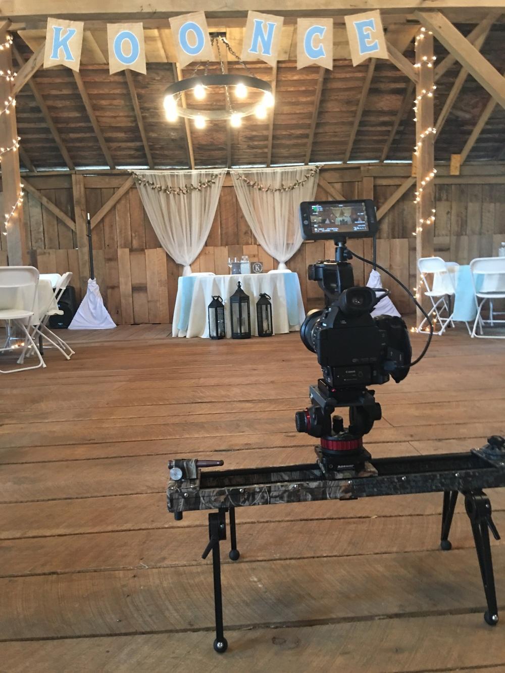 Slider shots inside the barn!