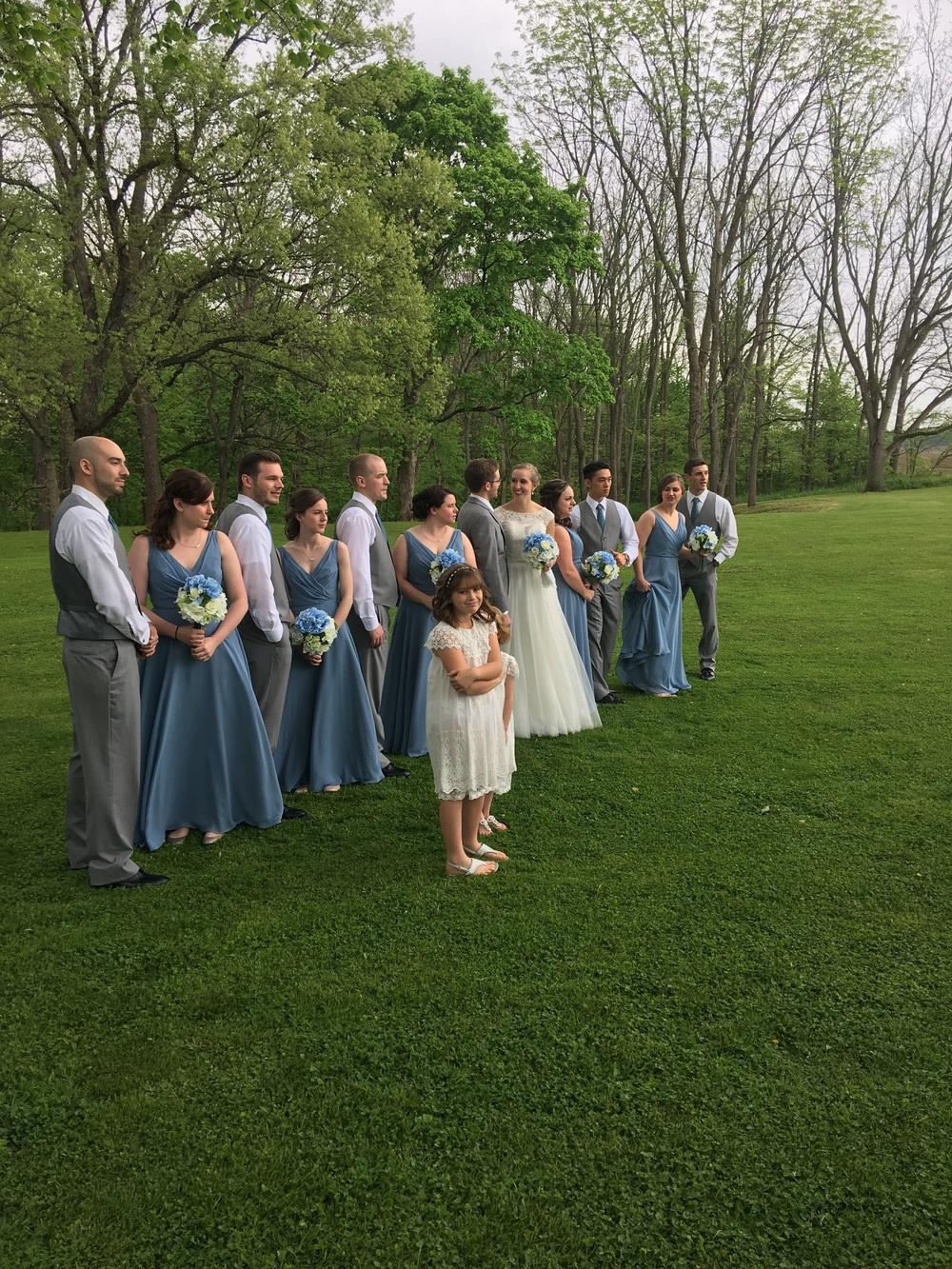 Beautiful wedding party made for beautiful shots.