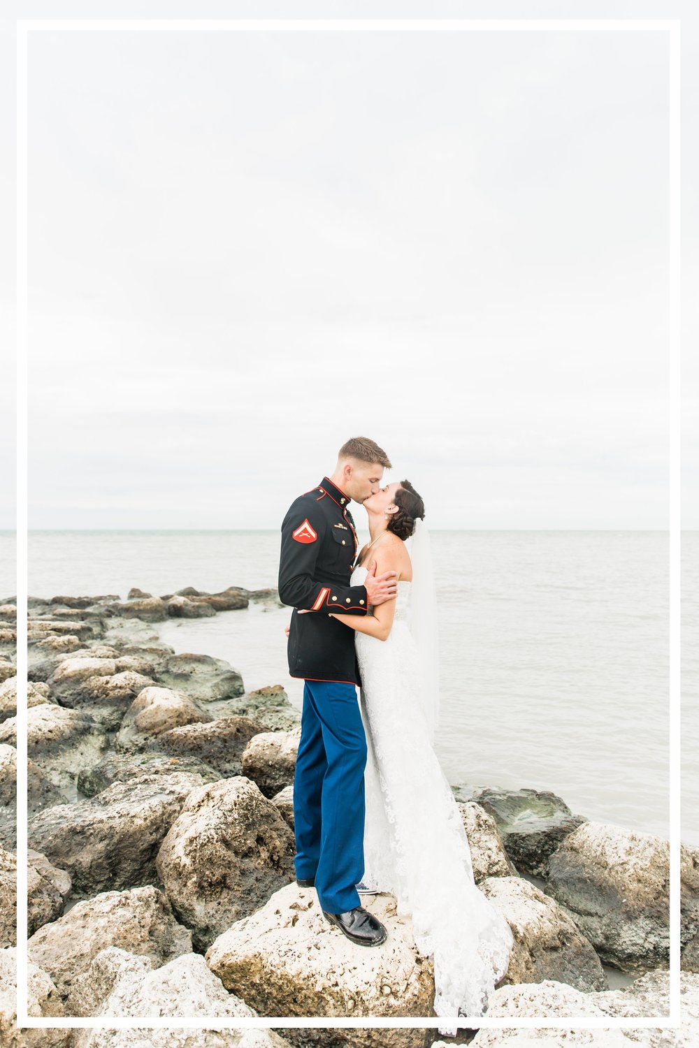 Navy Blush Tropical Beach Key West Florida Military Wedding