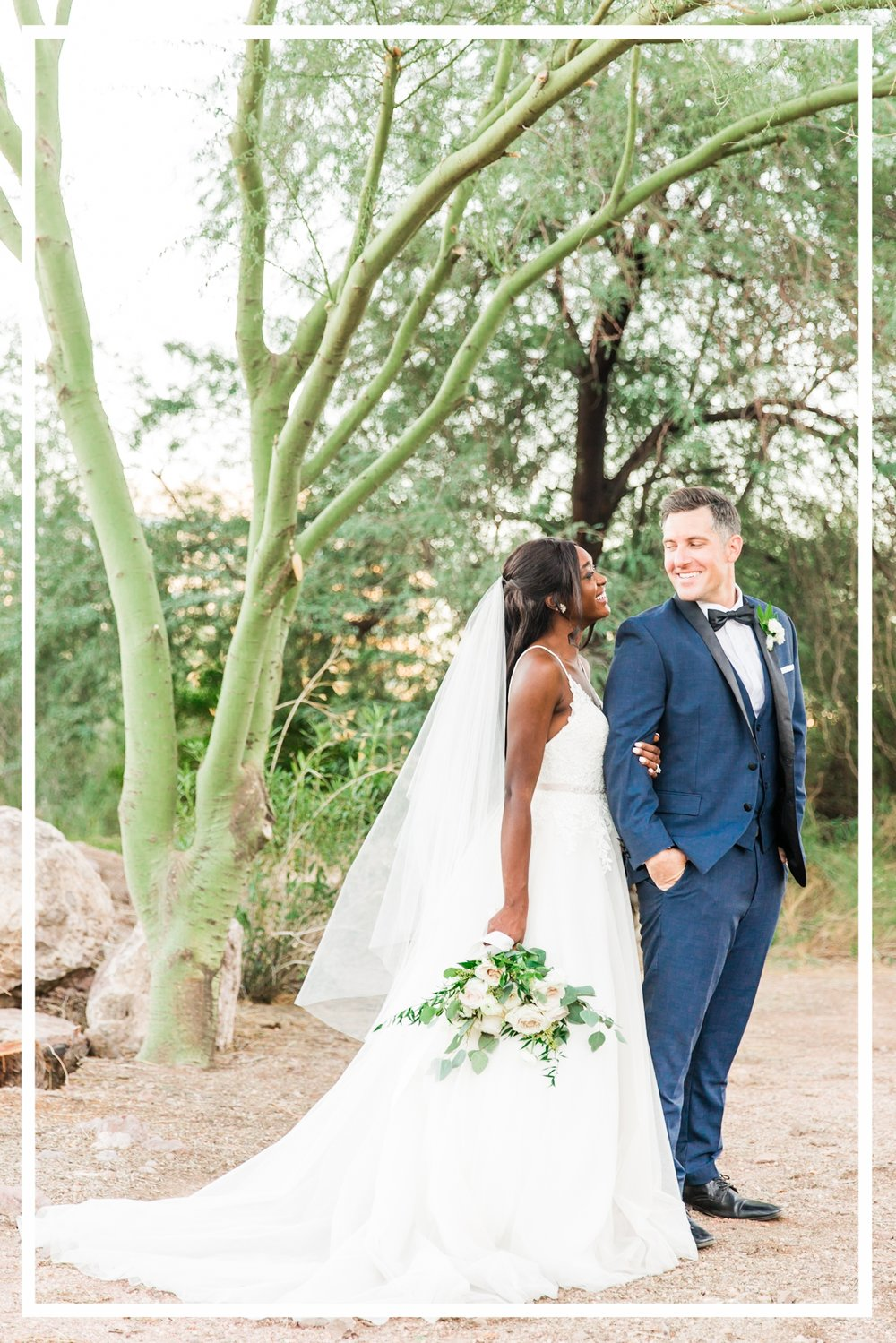 Navy Bride Groom Phoenix Arizona Wedding Couple