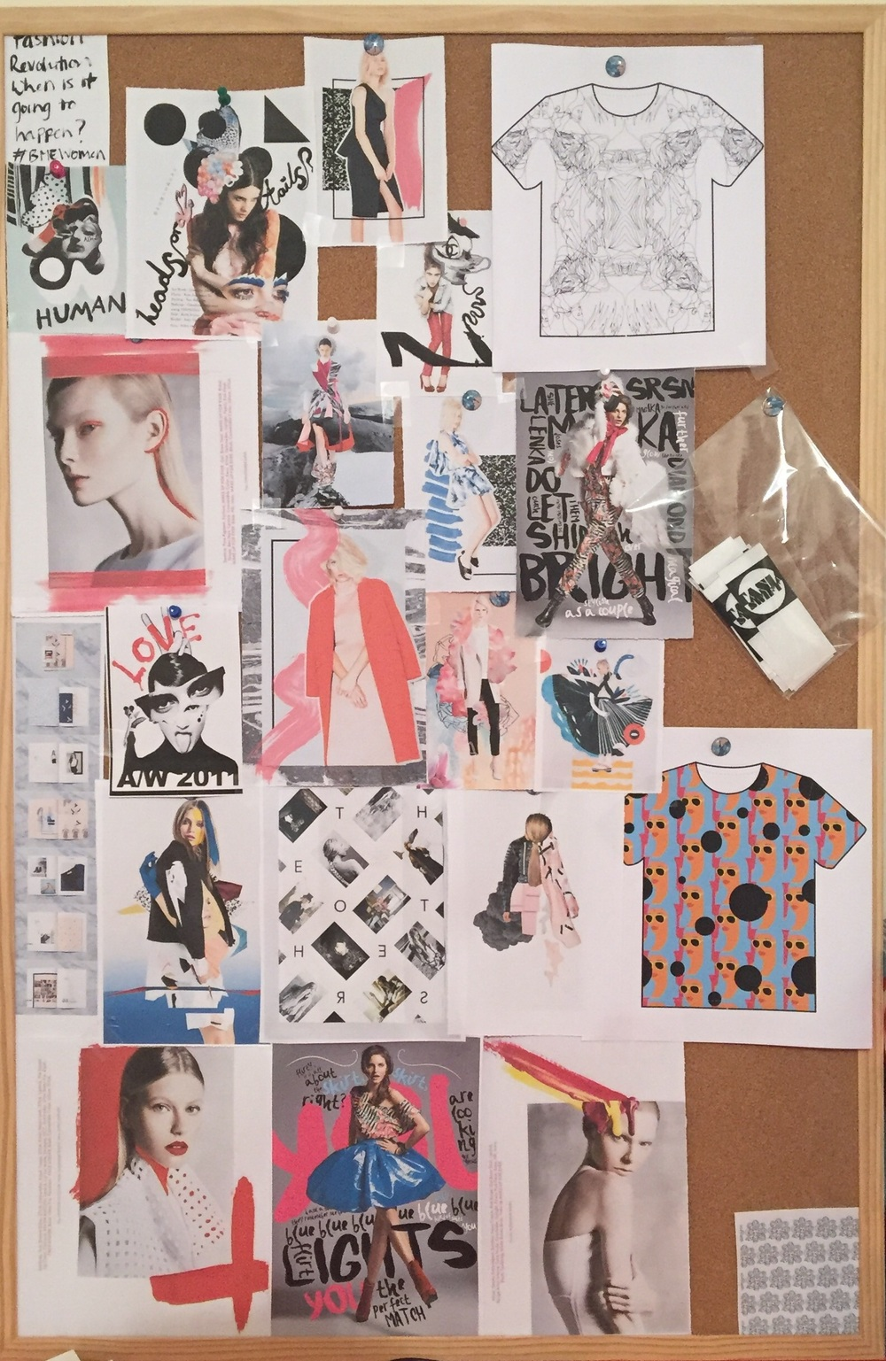 Look book board of inspiration