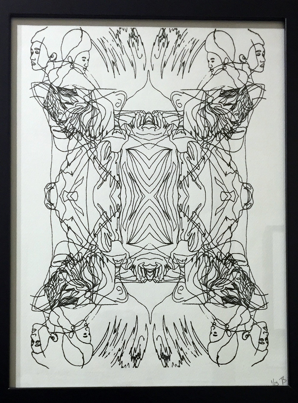 Abstract Asian Screen Print - Framed, £50. Unframed, 15.