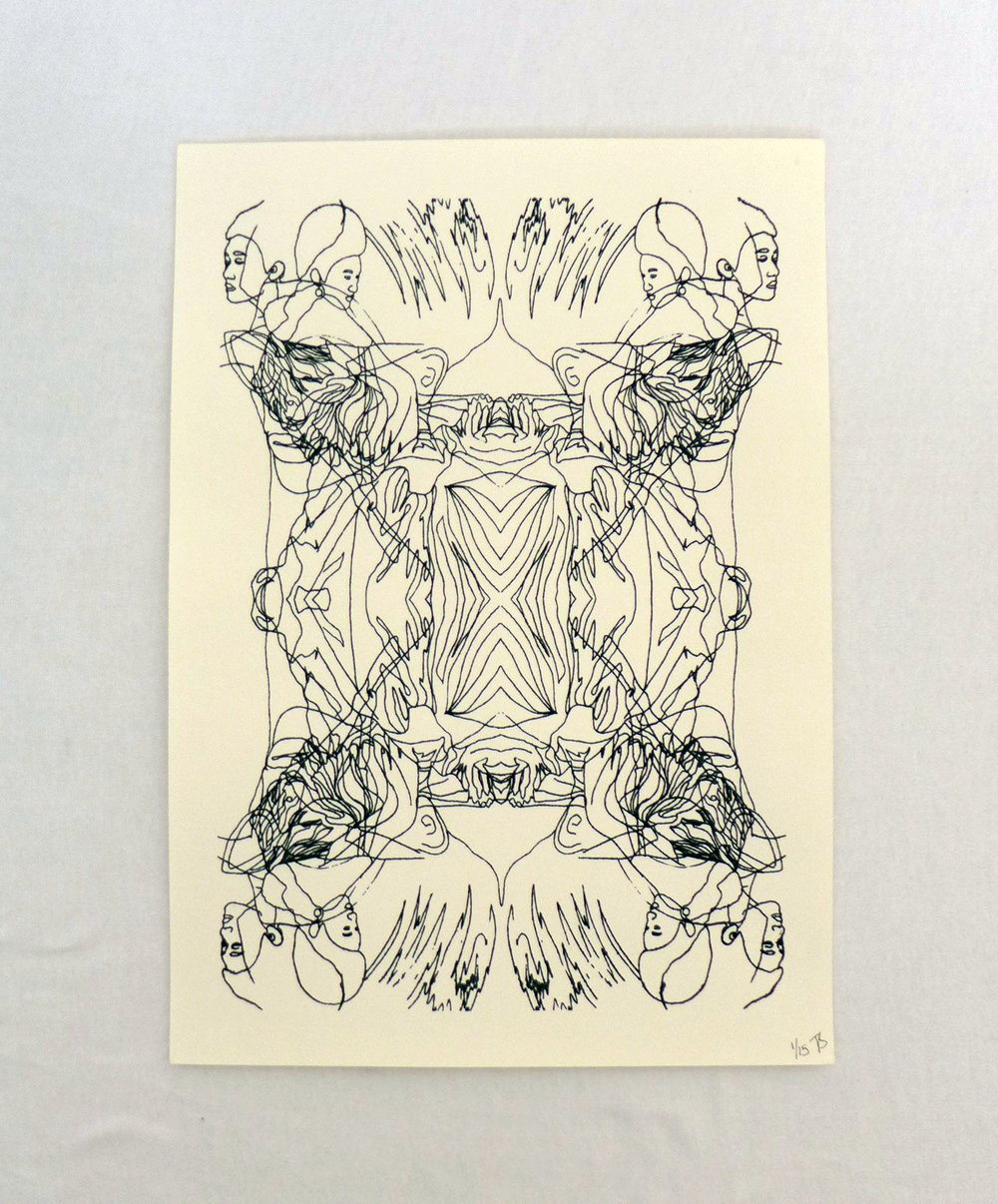 Abstract Asian Screen Print - £15