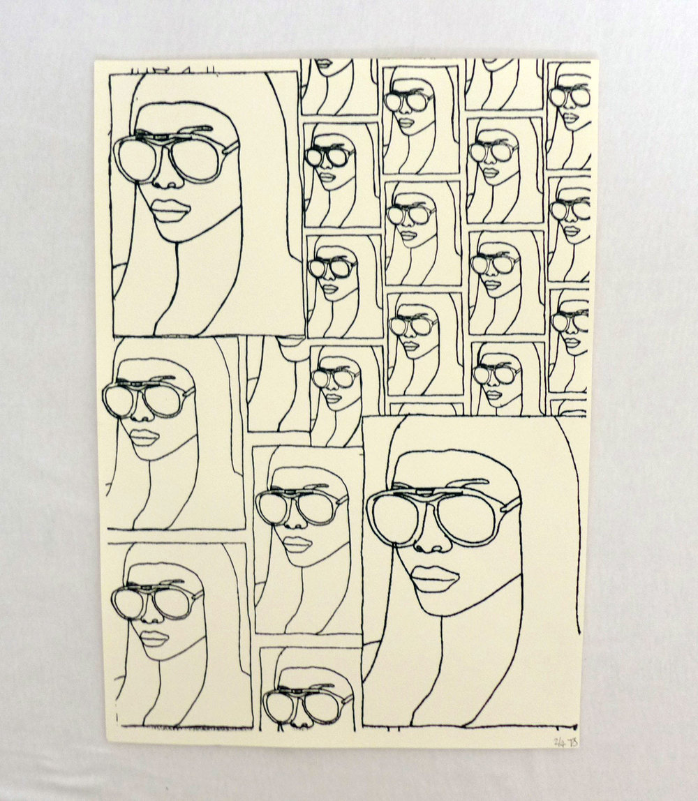 Girl with Glasses Screen Print - £15