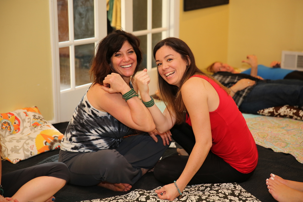Lori Martucci, owner and instructor at The Hott Spot and Kristen Happe, licensed acupuncturist at The Grape Seed.