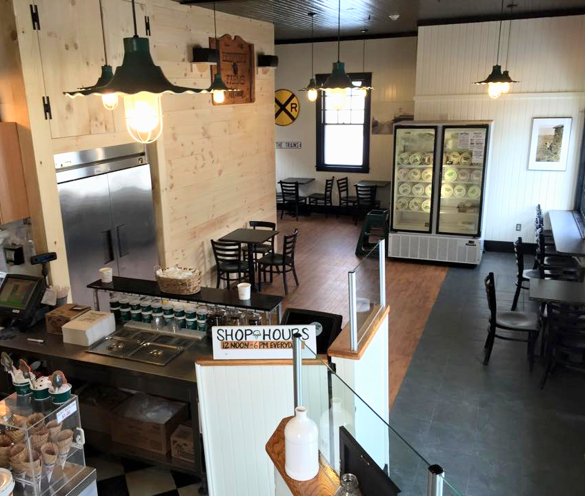 Interior of Bedford Farms Ice Cream in Concord, MA