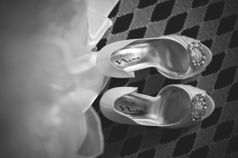 Dayton Wedding Photographer - Bride Shoes