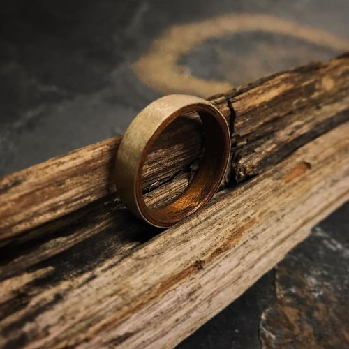 14k Gold Ring And Walnut 6mm FREE SHIPPING CODE FOR ORDERS 75 ROSE
