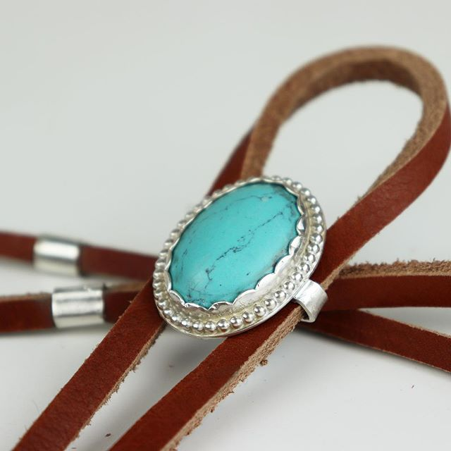 I made this turquoise and sterling silver bolo tie for a shoot that @tellurianevents is doing. Hit me up if you want one I will probably make a few more. . . . #woodring #woodenring #wedding #weddingband #engaged #engagement #weddingday #groom #weddingring #love #handmade #weddingday #engagement #engagementring #ring #mensstyle #menswear #mensfashion #bolo #bolotie