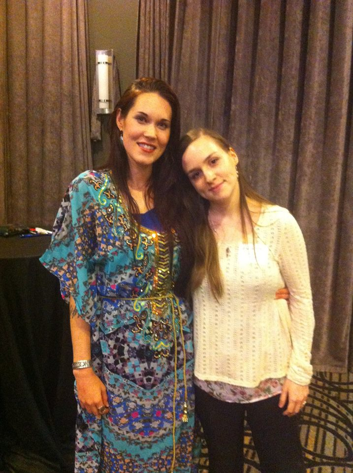 Teal Swan and I after the Orlando Synchronization Workshop.