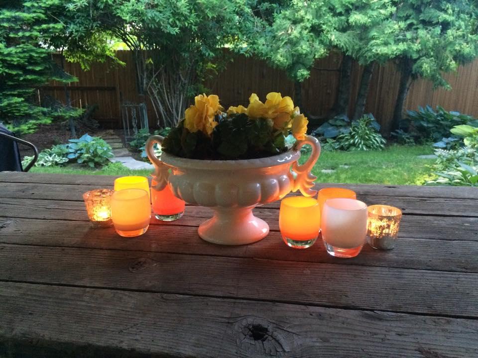 My summer table last year.