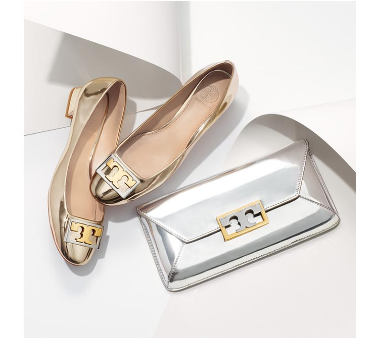 Tory Burch  need I say more? I got these shoes in burgundy but I LOVE the gold!