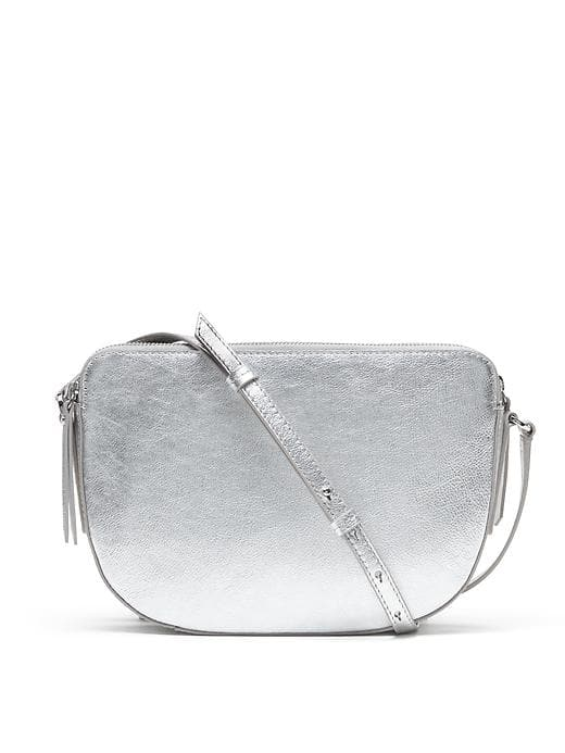 Banana Republic Double Zip Cross Body Bag So cute and perfect for parties to be hands free for your glass of Champagne.