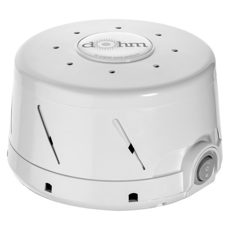 Ah the  white noise machine  -  the perfect remedy for good sleep. comes in black and white. Small and stylish!