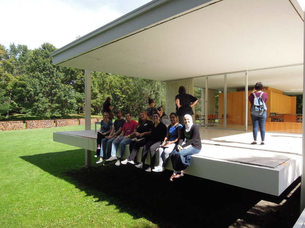 ARCH501 2015 Field Trip Week,  Farnsworth House, Mies van der Rohe, photo: Jonathan Spodek