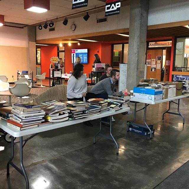 Today was the first day of the FBD Book Sale. Don't forget to come visit us from 12-1 on January 12, 17, and 19 and purchase some awesome books about Architecture!