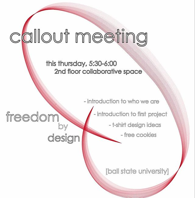 Don't forget, 5:30 to 6 in the 2nd floor collaborative space of CAP! See you then!
