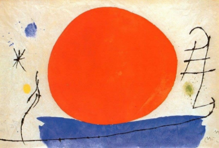 Joan Miró,  The Red Sun , 1950