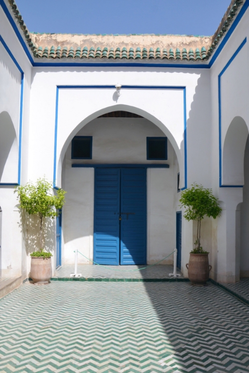 A tiled courtyard at Bahia Palace | photo by Maleeha Sambur