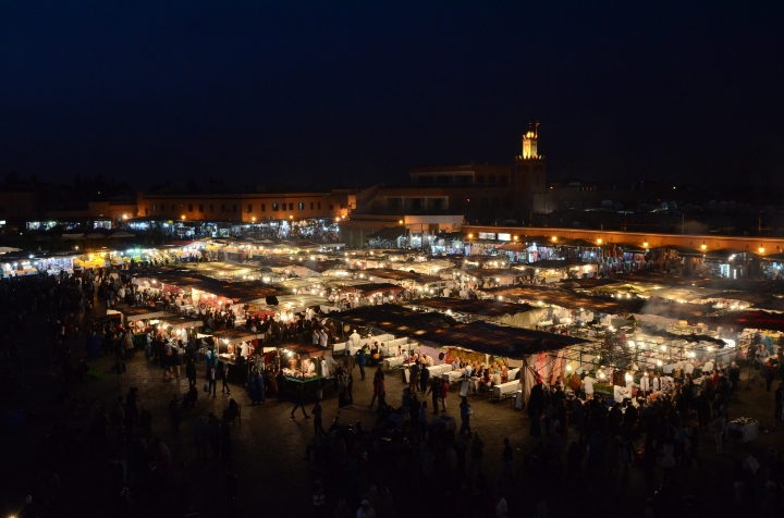 Jemaa el-Fna night market | photo by Maleeha Sambur
