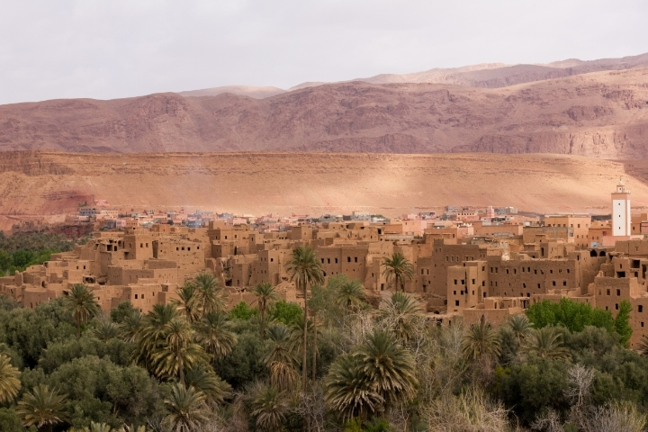 Oasis town of Tinerhir | photo by Tawfeeq Khan
