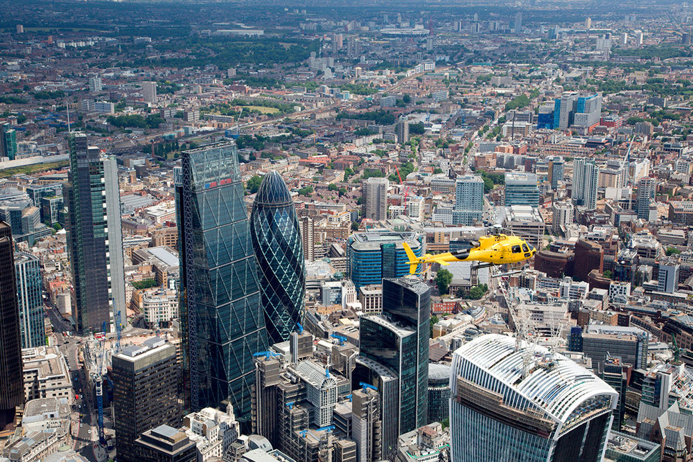 London helicopter -The POD Building, Bridges Ct, London SW11 3BE