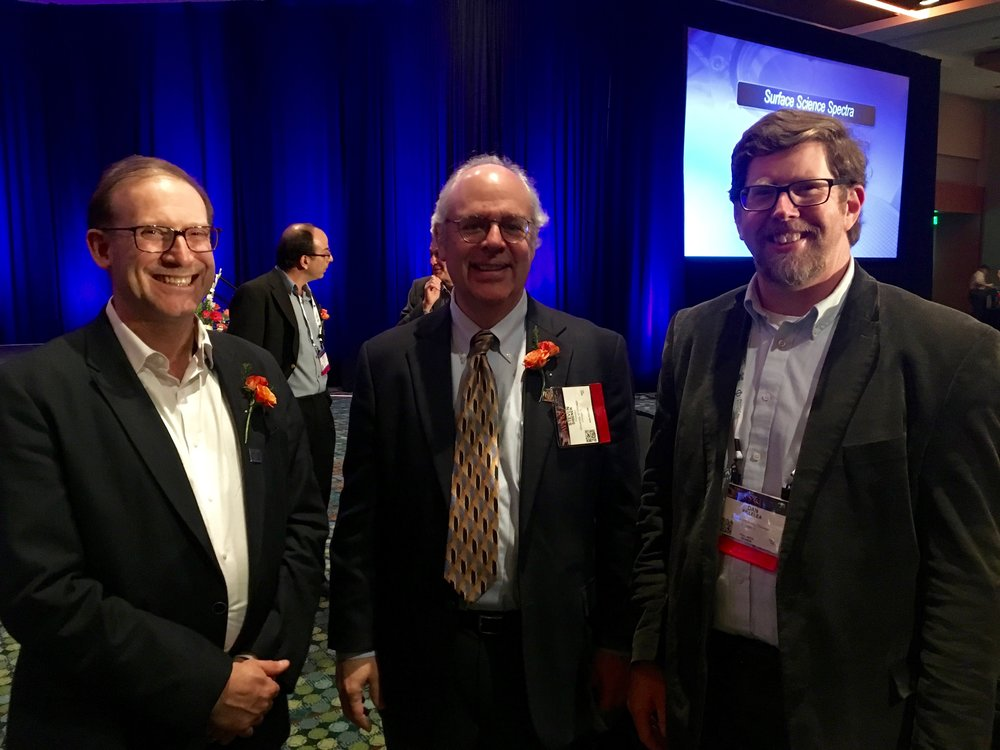 Art Utz, Steve Sibener, and Dan at AVS awards ceremony.  Both Art and Steve became AVS fellows.