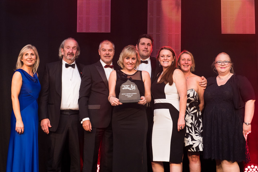 Aerfin win the Fastest Growing Business in Wales 2017
