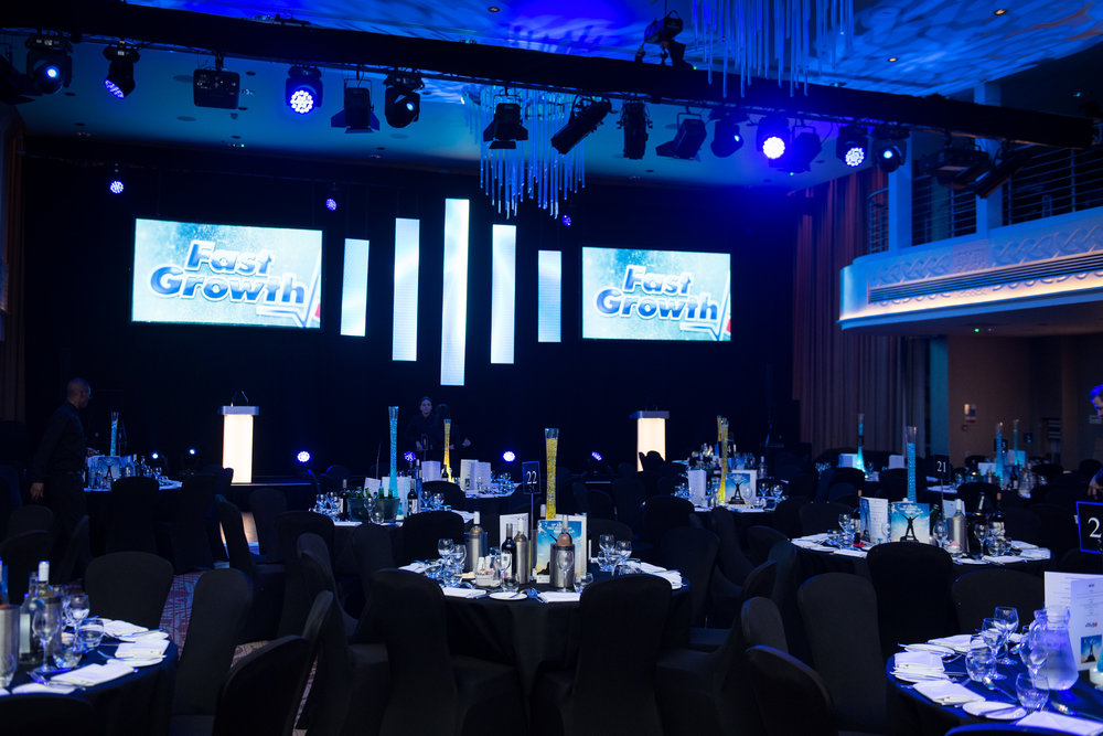 The Mercure Holland House Hotel set up for the Fast Growth 50 Awards 2017