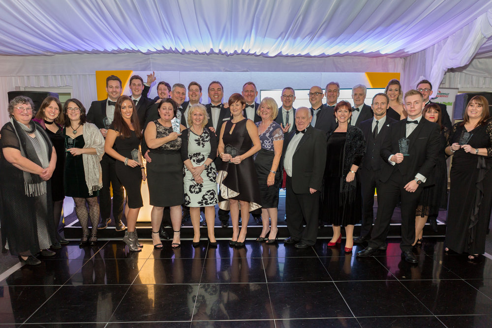 All the winners of the Caerphilly Business Forum Awards 2017