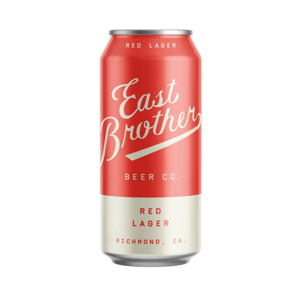 RED LAGER - Vienna style amber with a biscuity malt presence — clean, crisp, familiar.4.6% ABV.