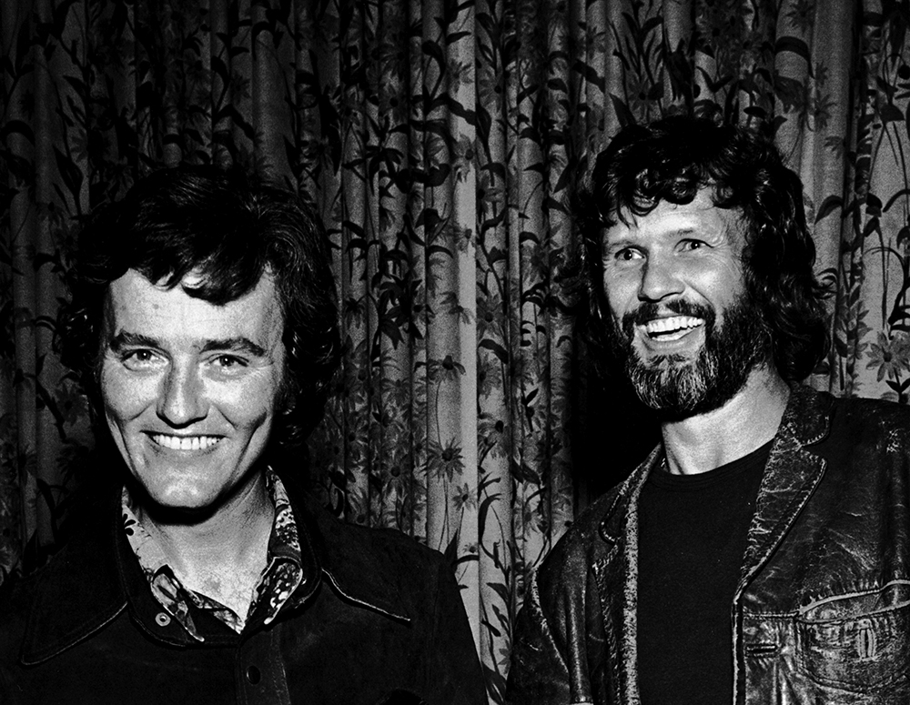 Mickey Newbury and Kris Kristofferson, 1974.