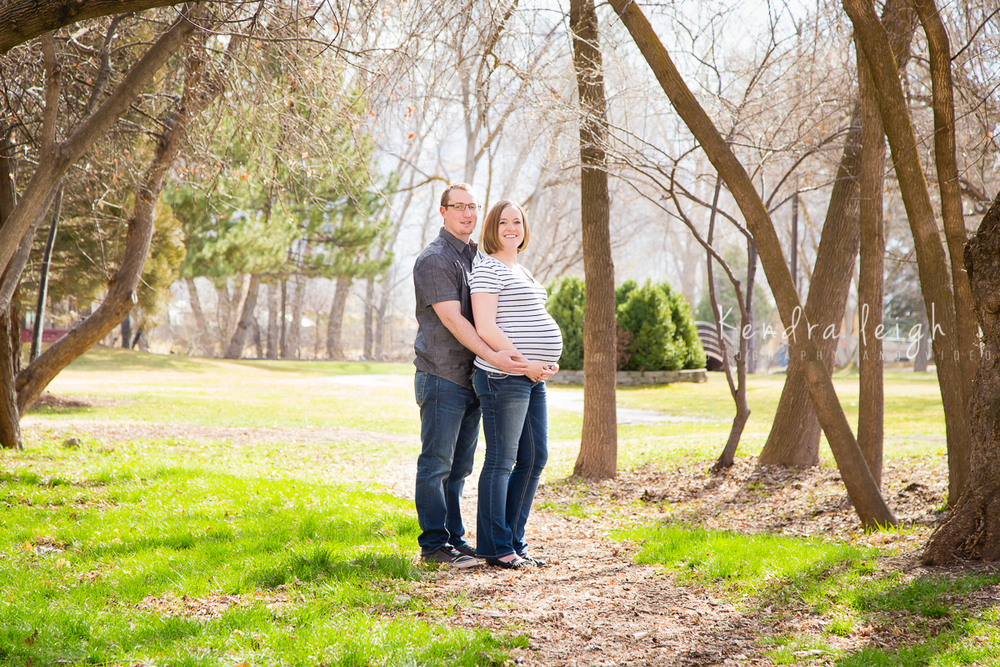 Maternity Picture by Trees