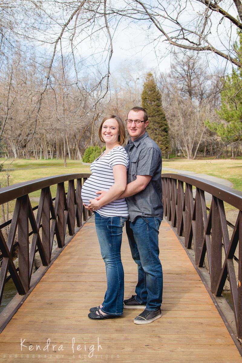 Maternity Picture on a Bridge