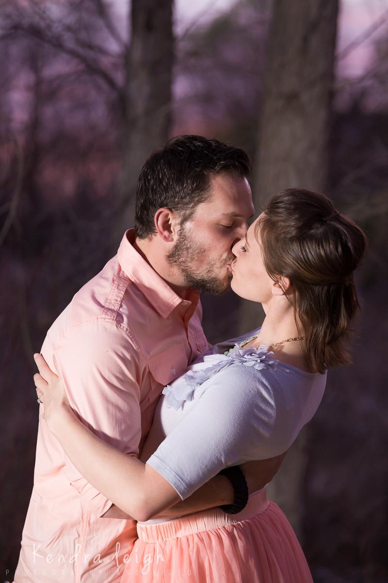 Trees Surrounding Kissing Couple