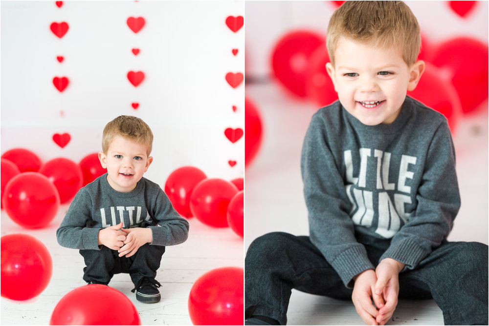 Little Boy Giggles during Valentines Pictures