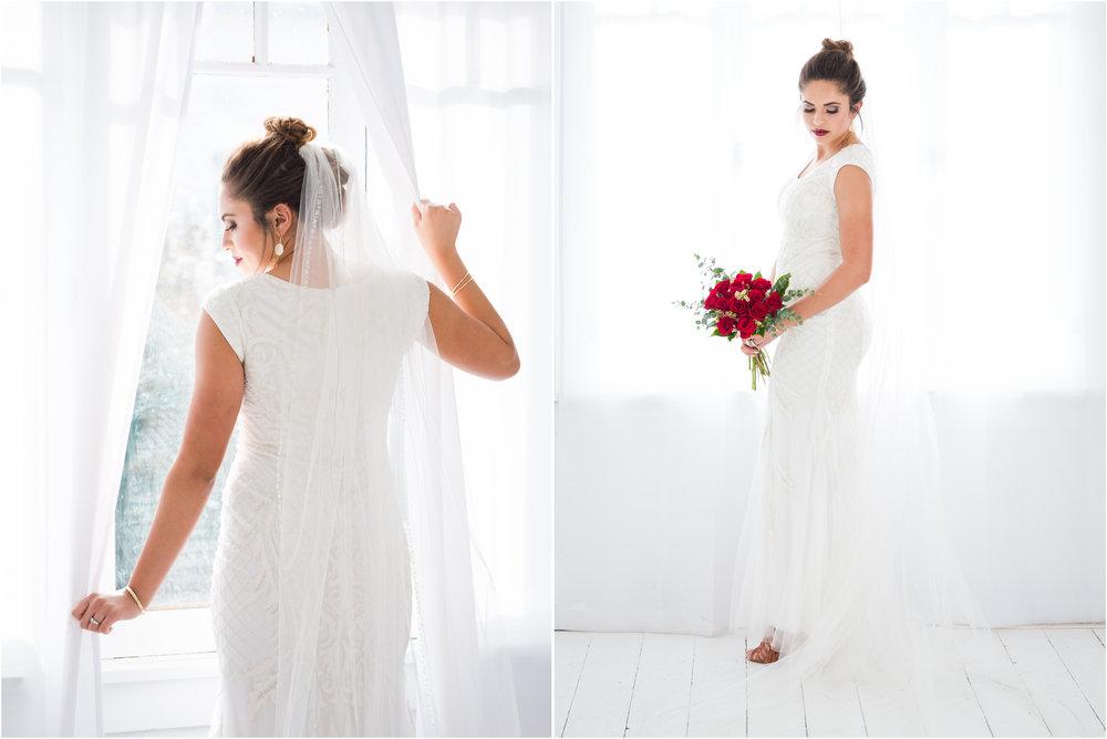 Bride in Utah County Photo Studio