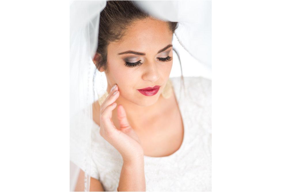 Bride Brushes her Cheek