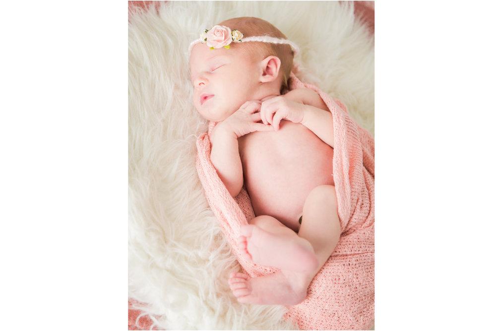 Newborn in Pink Wrap