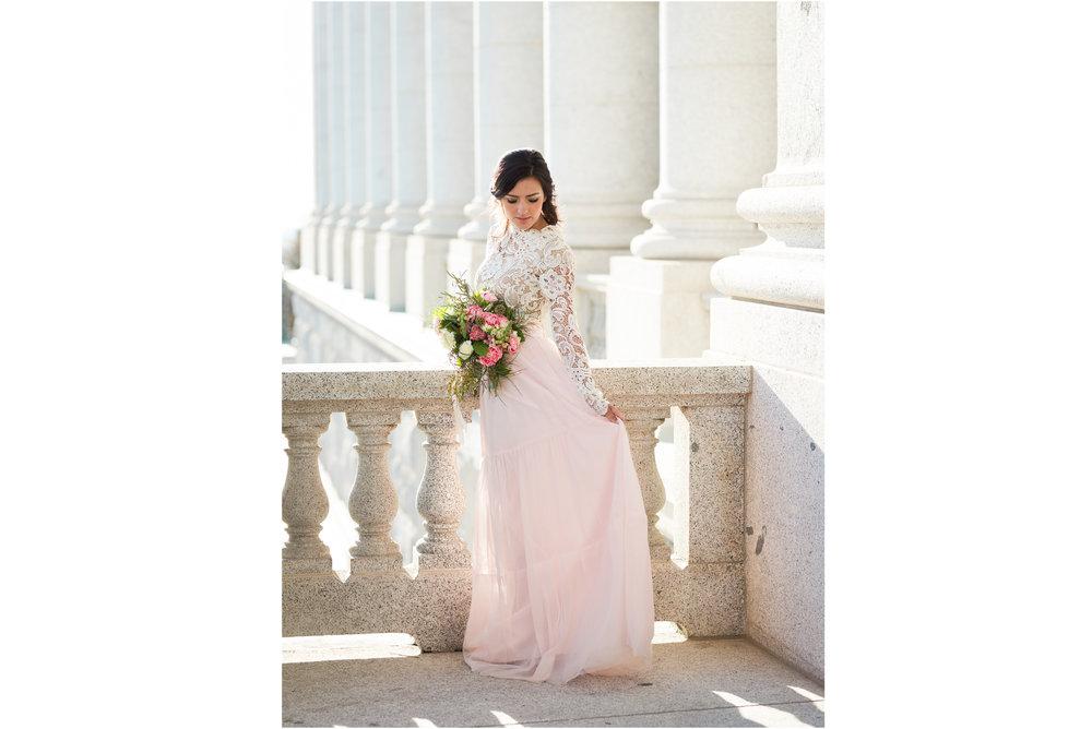 Bride at Utah State Capital