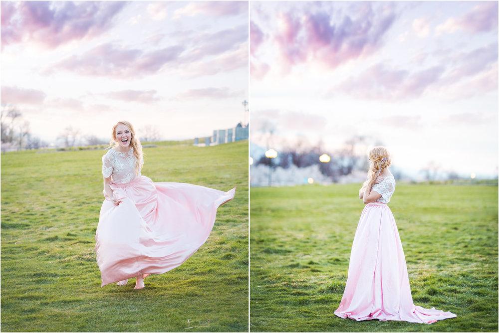 Bride Dancing at Sunset