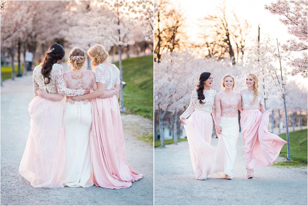 Three Brides Pose in J Noelle Wedding Seperates