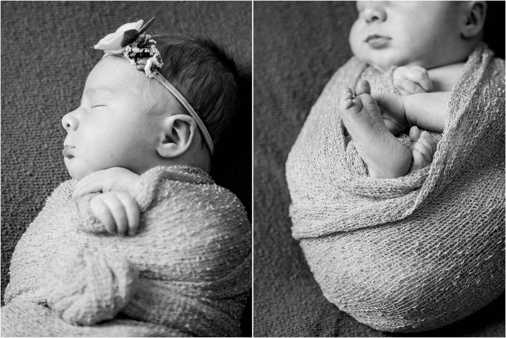 Black and White Newborn Details