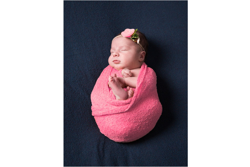 Cute Newborn Toes with Pink Wrap
